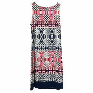 Lauren Ralph Lauren pink abstract sheath dress